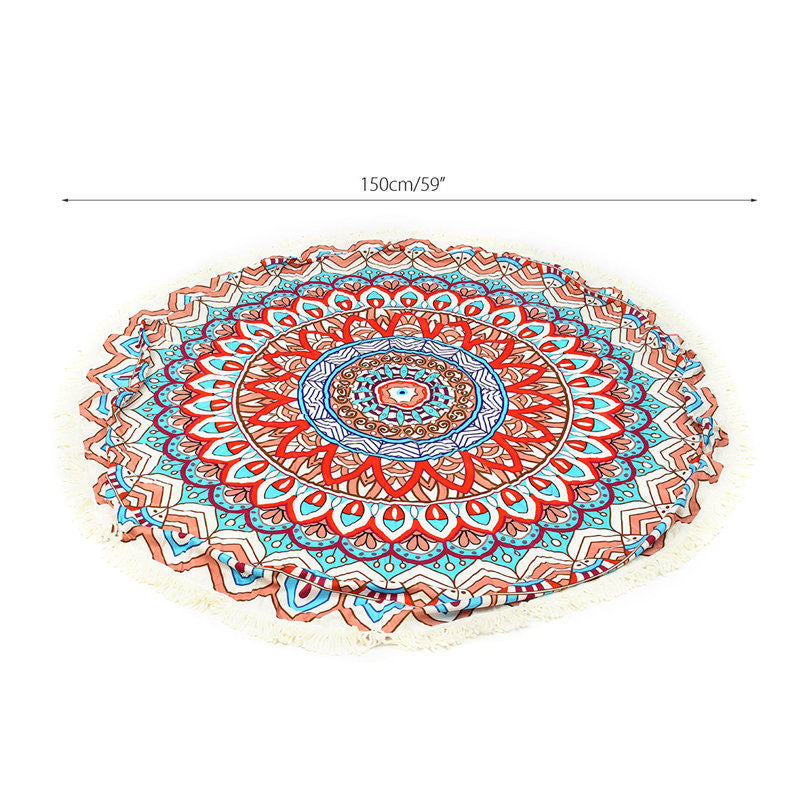 Mandala Microfiber Round Beach Towel - Mango Beach Towels and Accessories