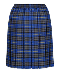 JSK117 Junior Girls Skirt - Box Pleat - Blue Tartan