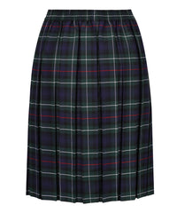 JSK117 Junior Girls Skirt - Box Pleat - Green Tartan
