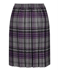 JSK117 Junior Girls Skirt - Box Pleat - Grey Tartan