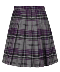 SSK308 Senior Girls Stitch Down Knife Pleat Skirt - Grey Tartan