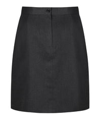 SSK503 Senior Girls Skirt - Inverted Front Pleat - Harrow Grey