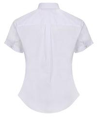 TPB410 Girls Short Sleeve Blouse - Slim Fit - White - Twin Pack