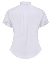 TPB425 Girls Short Sleeve Non-Iron Blouse - Slim Fit - White - Twin Pack