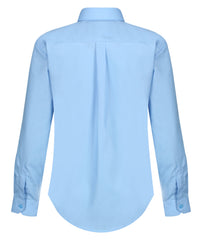 TPS206 Boys Long Sleeve Shirt - Slim Fit - Blue - Twin Pack
