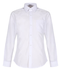 TPS206 Boys Long Sleeve Shirt - Slim Fit - White - Twin Pack