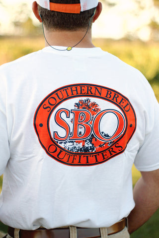 SBO Burnt Orange and Navy Short Sleeve