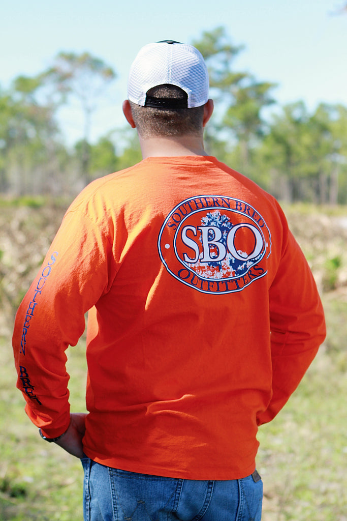 SBO Orange and Blue Long Sleeve T-Shirt