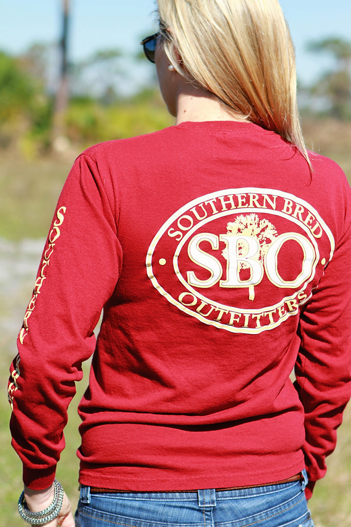 SBO Garnet and Gold Long Sleeve T-Shirt