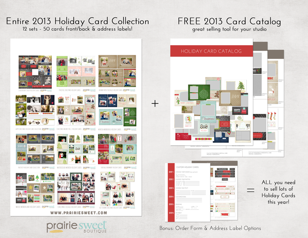 DISCOUNT!! The Entire 2013 Holiday Card Collection bundle!