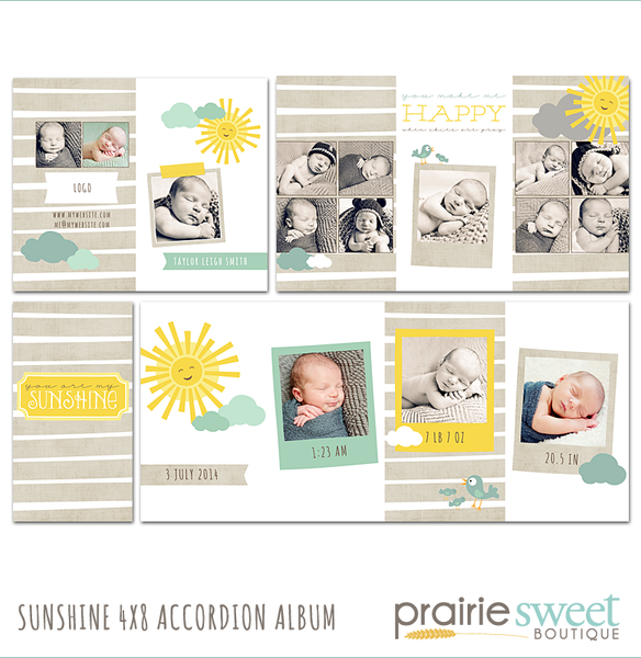 Sunshine 4x8 Accordion Album