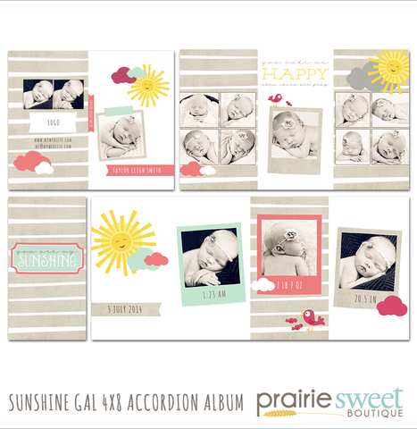 Sunshine Gal 4x8 Accordion Album