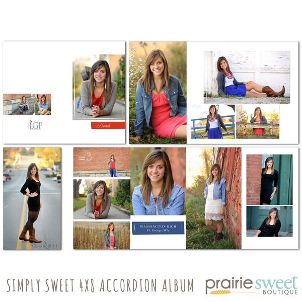 Simply Sweet 4x8 Accordion Album