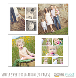 Simply Sweet 10x10 Album