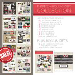 DISCOUNT!!  2014 Holiday Card Collection Bundle