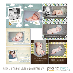 Flying High Birth Announcement Collection