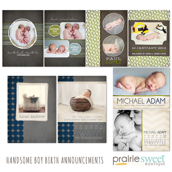 Handsome Boy Birth Announcement Collection