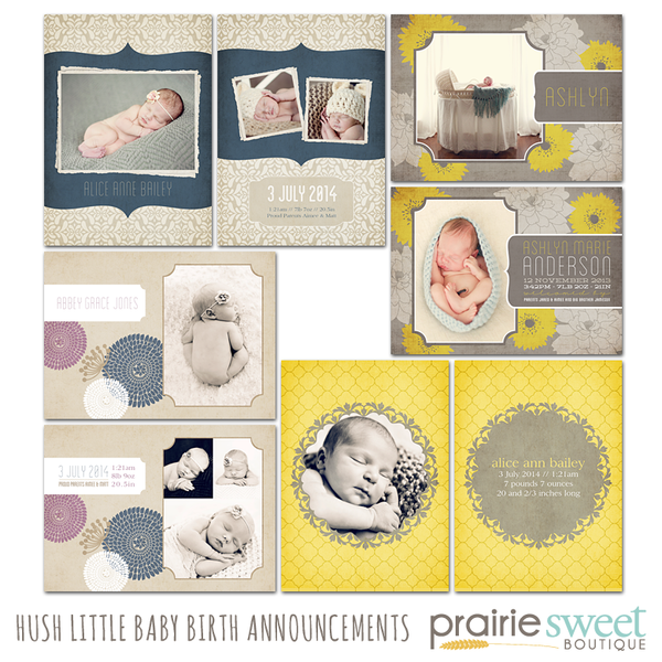Hush Little Baby Birth Announcement Collection