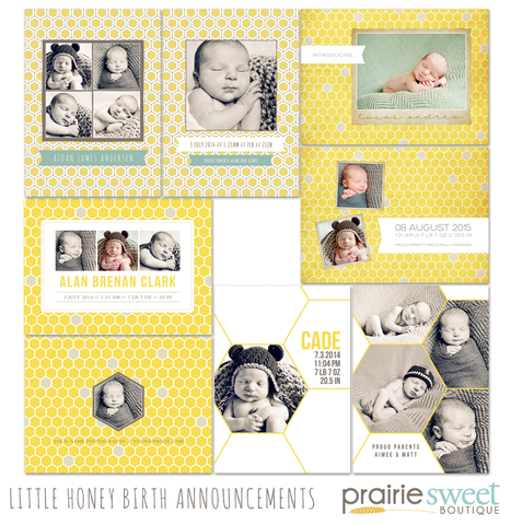 Little Honey Birth Announcement Collection