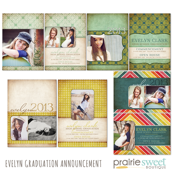 Evelyn Graduation Announcement Collection