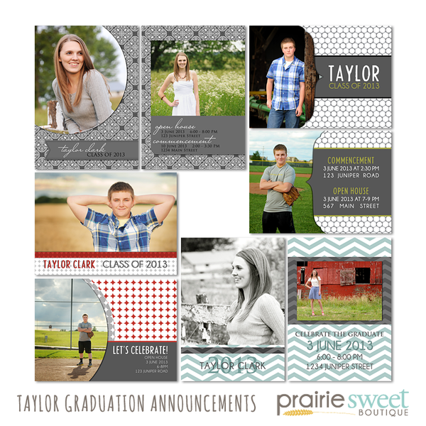 Taylor Graduation Announcement Collection
