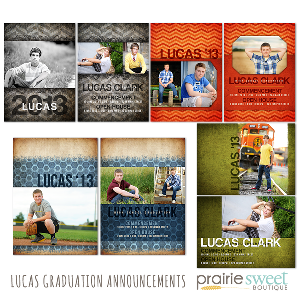 Lucas Graduation Announcement Collection