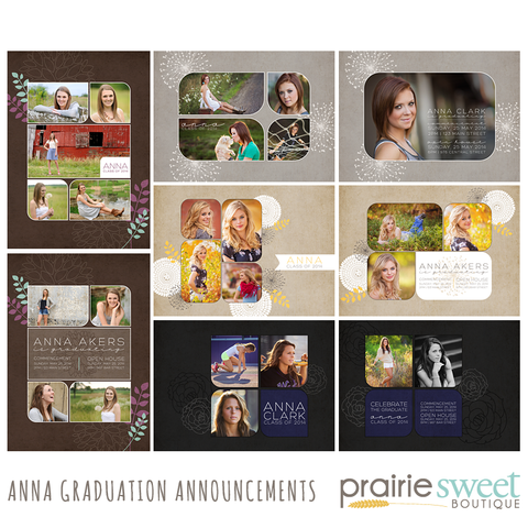 Anna Graduation Announcement Collection