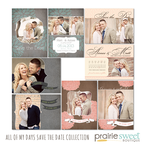 All of My Days Save the Date Collection