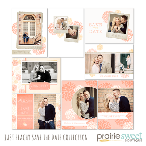 Just Peachy Save the Date Collection