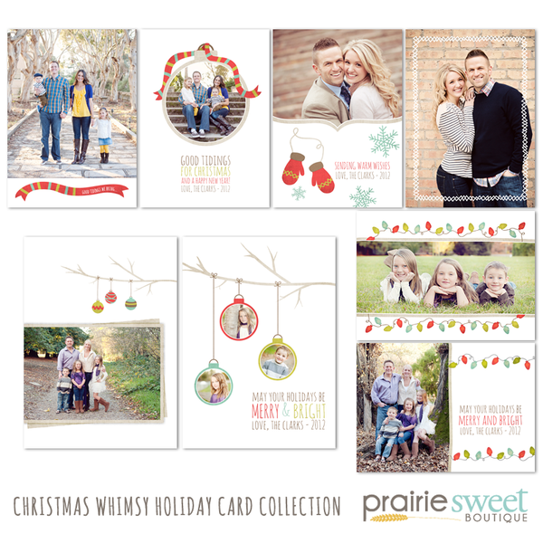 Christmas Whimsy Holiday Card Collection