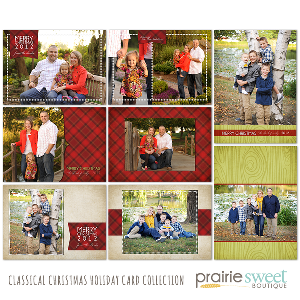 Classical Christmas Holiday Card Collection