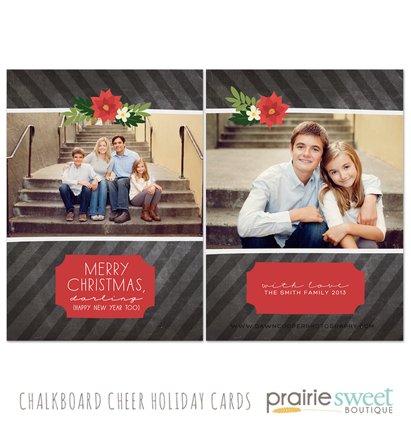 Chalkboard Cheer Holiday Card Collection