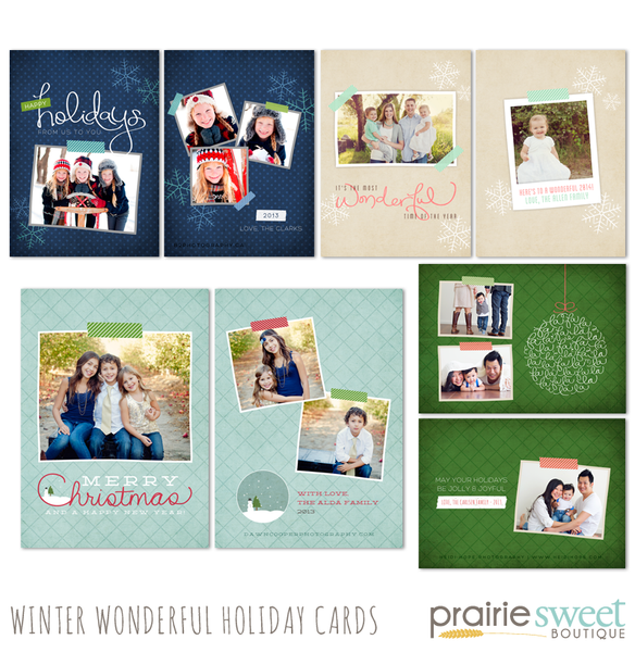 Discounted! The Entire 2013 Holiday Card Template Bundle!