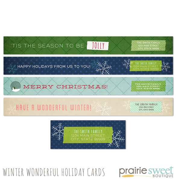 Winter Wonderful Holiday Card Collection