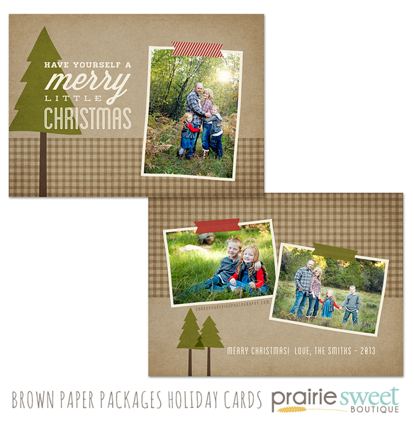Brown Paper Packages Holiday Card Collection