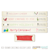 Kid-Drawn Christmas Holiday Card Collection