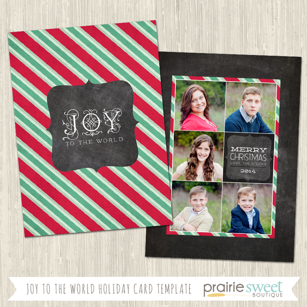 JOY TO THE WORLD | Chalkboard Cheer Vol 2 Holiday Card