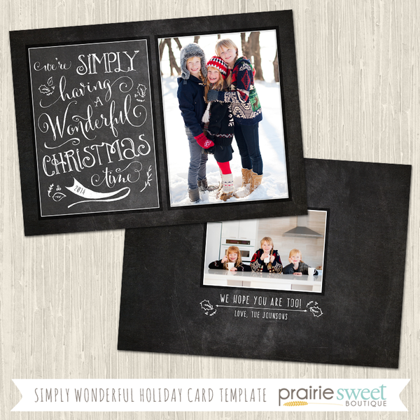 SIMPLY WONDERFUL | Chalkboard Cheer Vol 2 Holiday Card