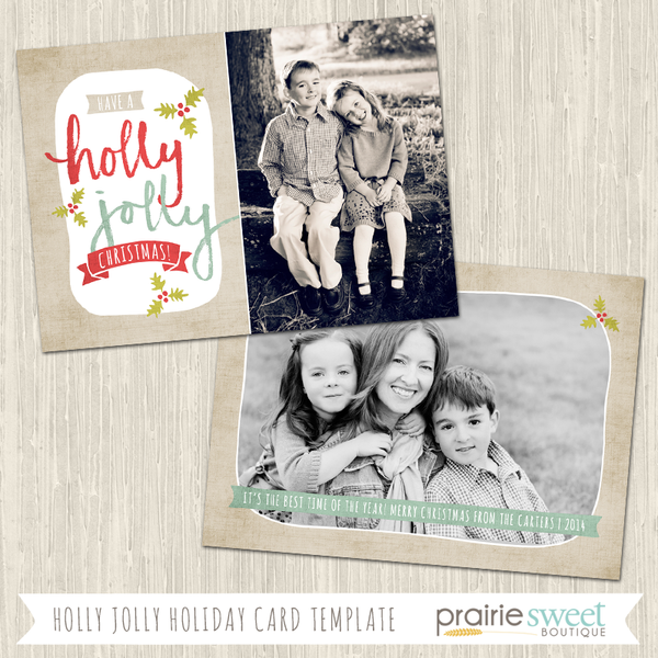 HOLLY JOLLY | Christmas Whimsy Vol 3 Holiday Card