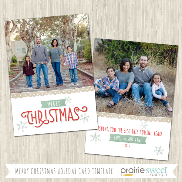 MERRY CHRISTMAS | Christmas Whimsy Vol 3 Holiday Card