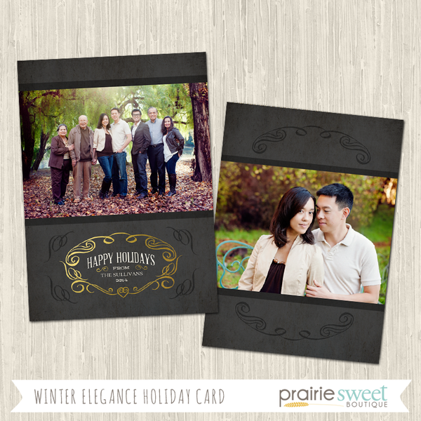 HAPPY HOLIDAYS | Winter Elegance Holiday Card