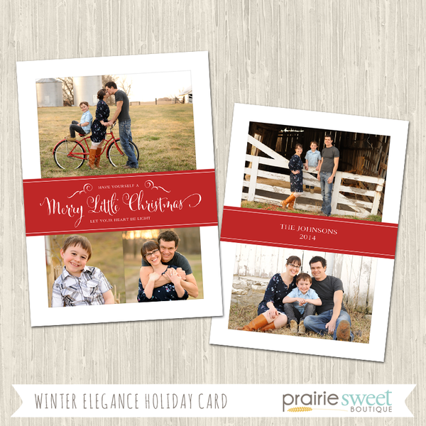 MERRY LITTLE CHRISTMAS | Winter Elegance Holiday Card
