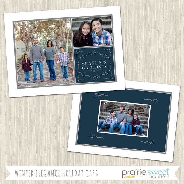SEASONS GREETINGS | Winter Elegance Holiday Card