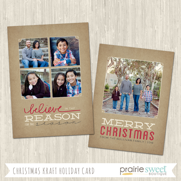BELIEVE | Christmas Kraft Holiday Card