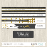 Gray and Gold Holiday Card Collection