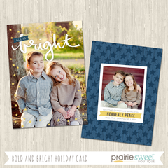 ALL IS BRIGHT | Bold and Bright Overlay Holiday Card