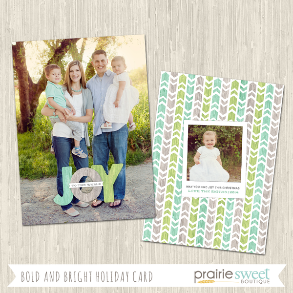 JOY | Bold and Bright Overlay Holiday Card