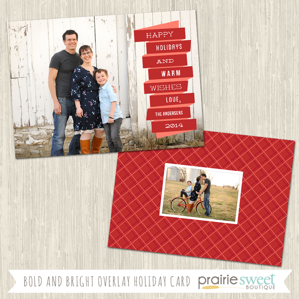MODERN BANNER | Bold and Bright Overlay Holiday Card