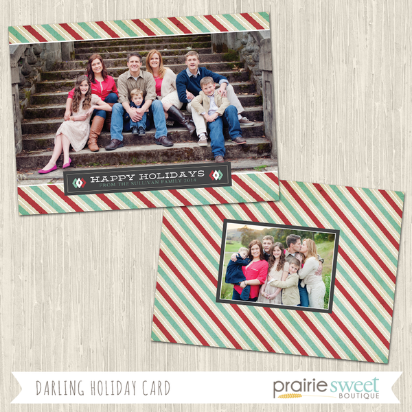 HAPPY HOLIDAYS | Darling Holiday Card