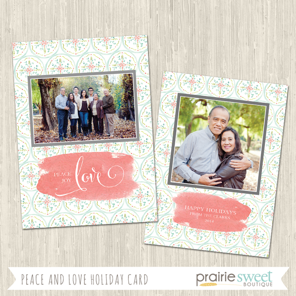 LOVE | Peace and Love Holiday Card